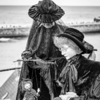Puppets at Whitby Goth Weekend